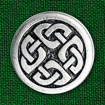 Celtic Shield Knot Pewter Pin