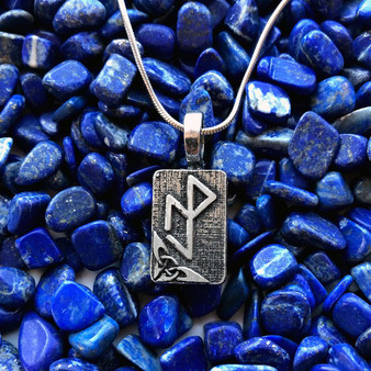 Essential Workers Bindrune Pendant - Strength Protection Resilience Victory