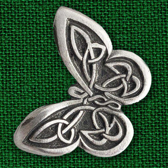 Celtic Knot Butterfly Pewter Pin