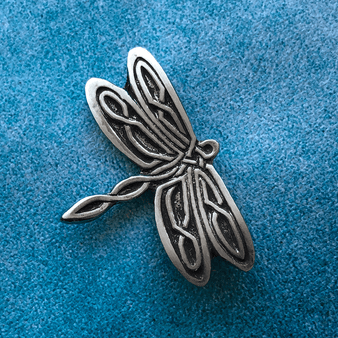 Celtic Dragonfly Pewter Pin