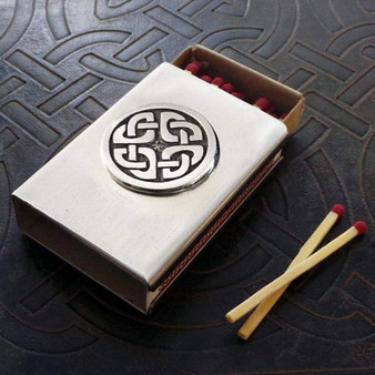 Celtic Knot Match Box in Stainless Steel - Shield Knot