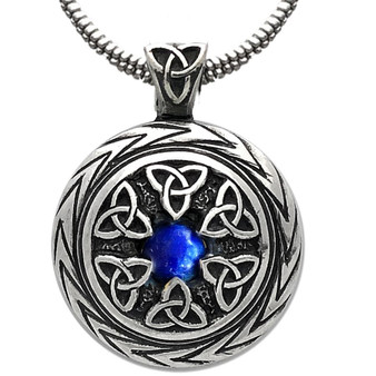 Limited Edition! Triquetra Pendant with Lapis – Celtic Traditions