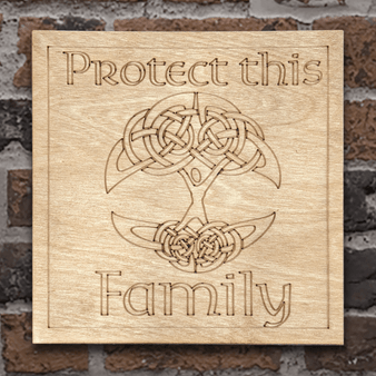 Protect this Family - Tree of Life Wall Hanging