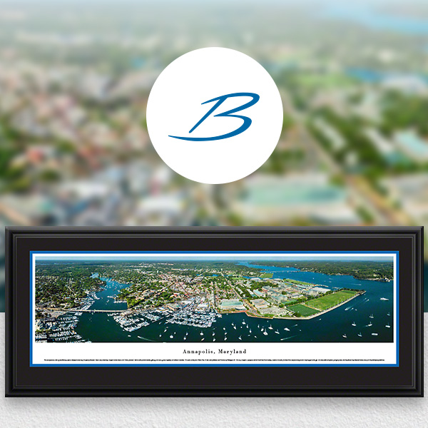 Annapolis, MD City Skyline Panoramic Wall Art