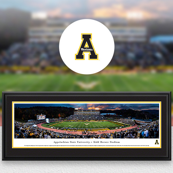 Appalachian State Mountaineers Panoramic Posters and Fan Cave Decor