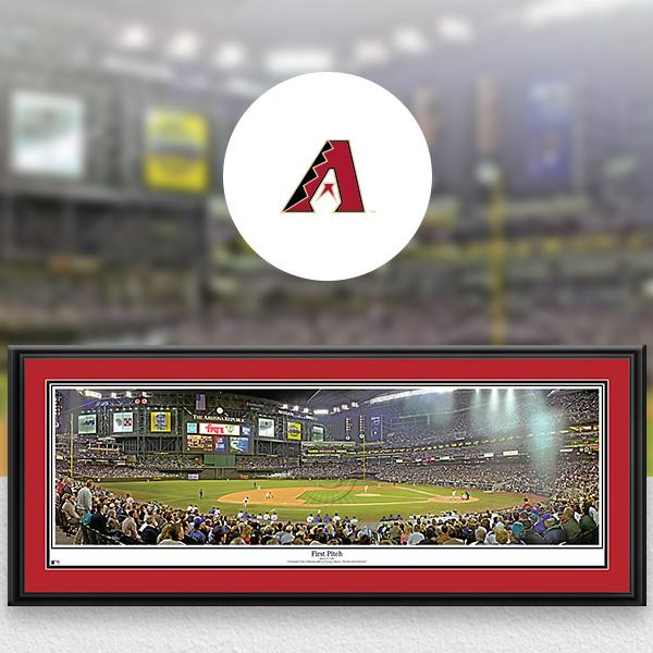 Arizona Diamondbacks MLB Baseball Framed Panoramic Fan Cave Decor