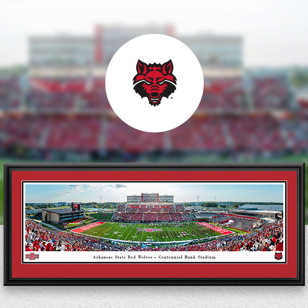 Arkansas State Red Wolves Panoramic Posters and Fan Cave Decor