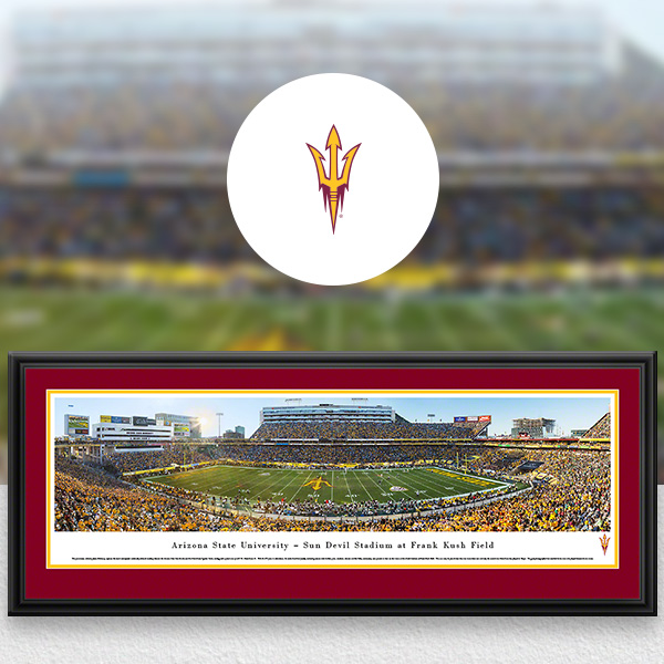 Arizona State Sun Devils Panoramic Posters and Fan Cave Decor