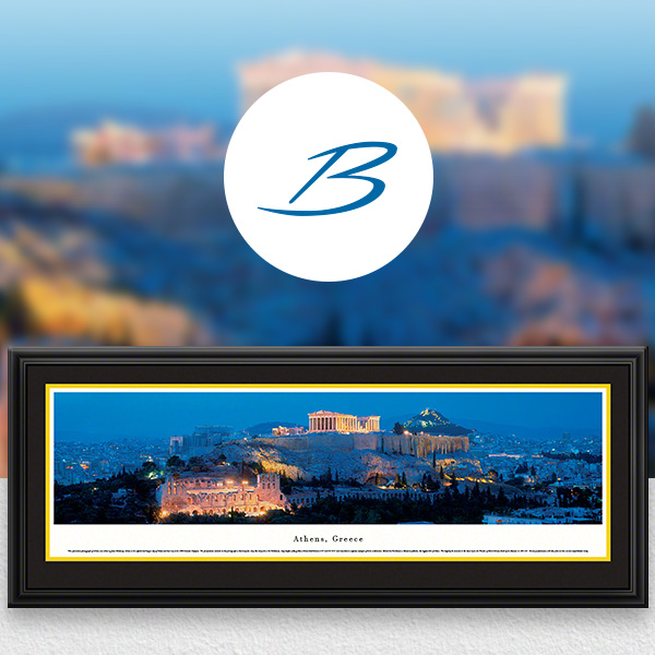 Athens, Greece City Skyline Panoramic Wall Art