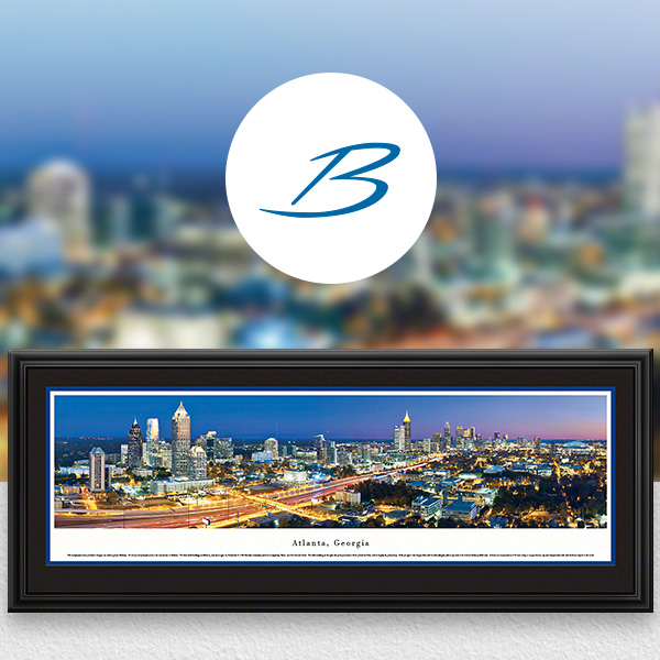 Atlanta, GA City Skyline Panoramic Wall Art
