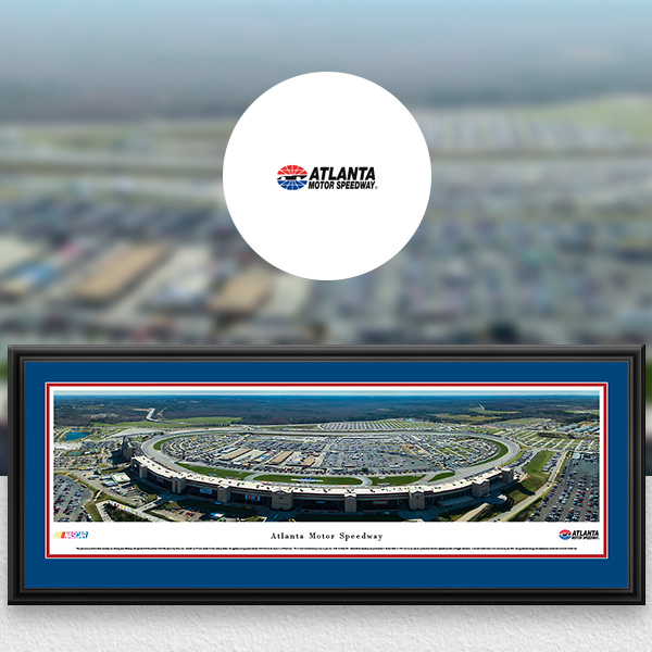 Atlanta Motor Speedway NASCAR Panoramic Posters and Fan Cave Decor