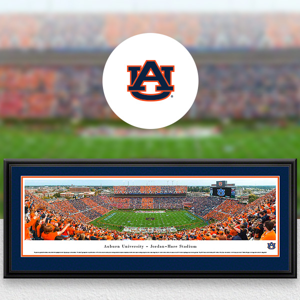 Auburn Tigers Panoramic Posters and Fan Cave Decor