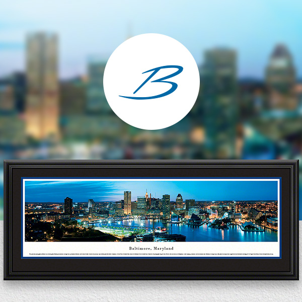 Baltimore, MD City Skyline Panoramic Wall Art