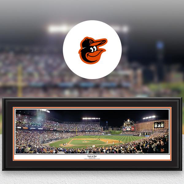 Baltimore Orioles MLB Baseball Framed Panoramic Fan Cave Decor