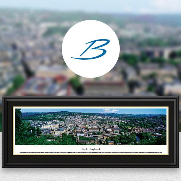 Bath, England City Skyline Panoramic Wall Art