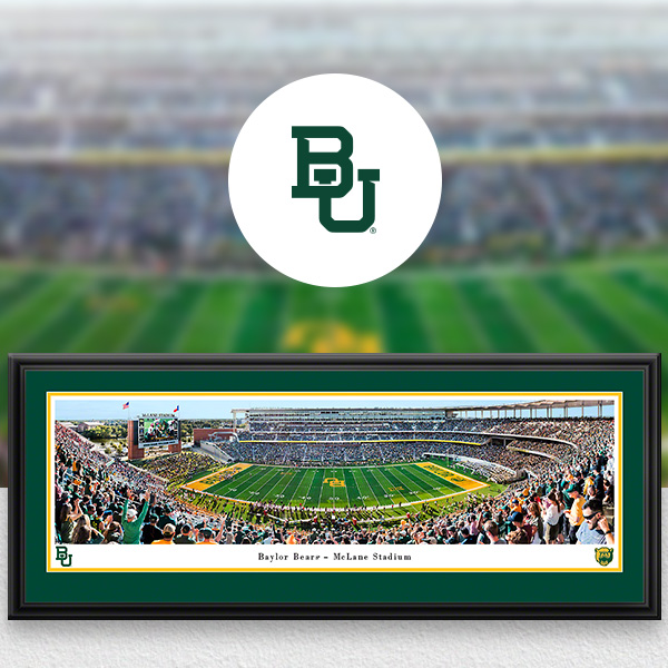Baylor Bears Panoramic Posters and Fan Cave Decor