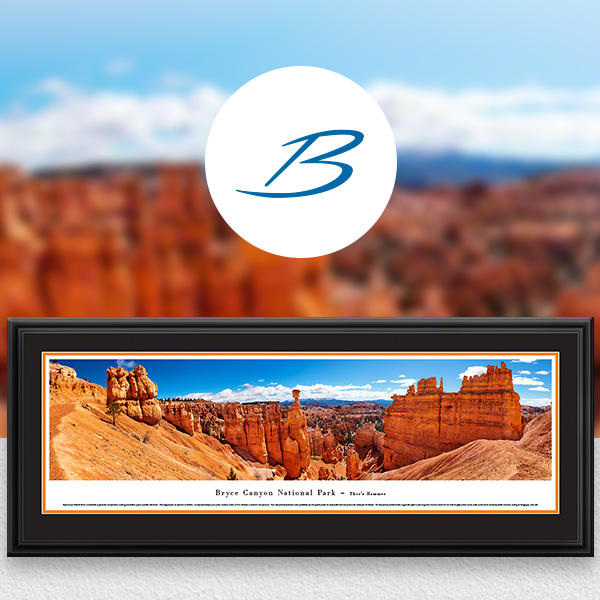 Bryce Canyon National Park Scenic Landscape Panoramic Wall Art