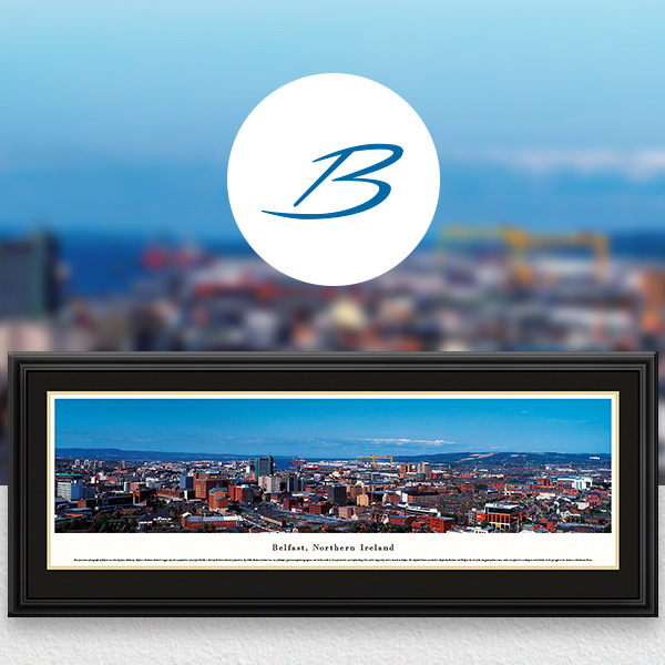Belfast, Northern Ireland City Skyline Panoramic Wall Art