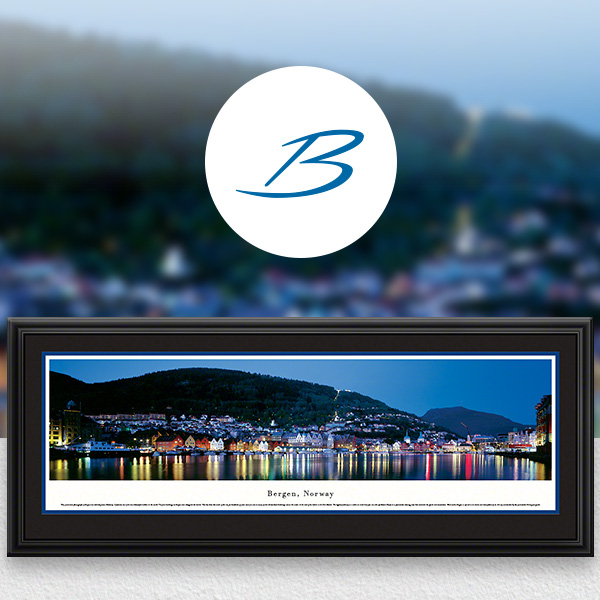 Bergen, Norway City Skyline Panoramic Wall Art