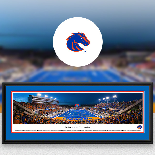 Boise State Broncos Panoramic Posters and Fan Cave Decor