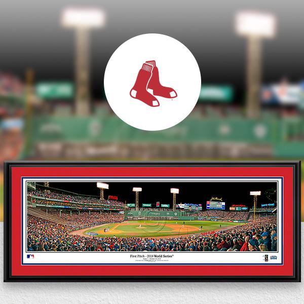 Boston Red Sox MLB Baseball Framed Panoramic Fan Cave Decor
