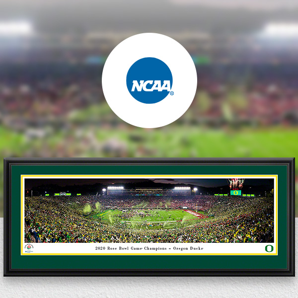 College Bowl Games Panoramic Posters and Fan Cave Decor