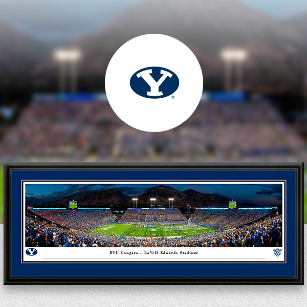 Brigham Young Cougars Panoramic Posters and Fan Cave Decor