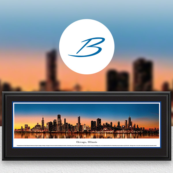 Chicago, IL City Skyline Panoramic Wall Art