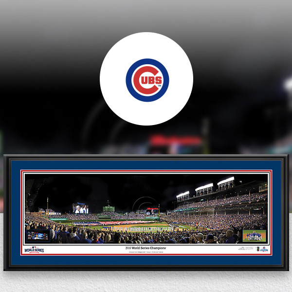 Chicago Cubs MLB Baseball Framed Panoramic Fan Cave Decor
