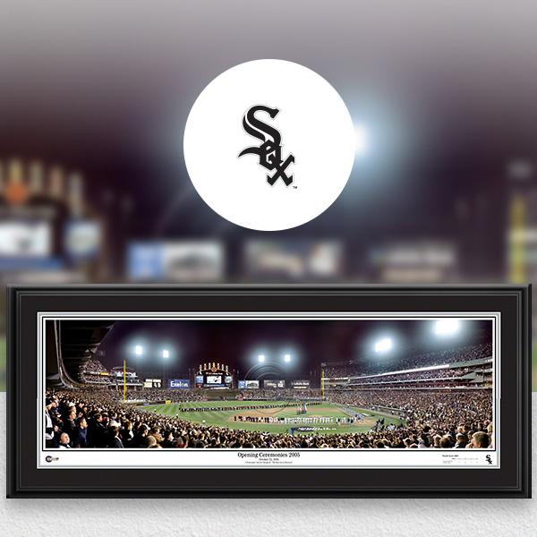 Chicago White Sox MLB Baseball Framed Panoramic Fan Cave Decor