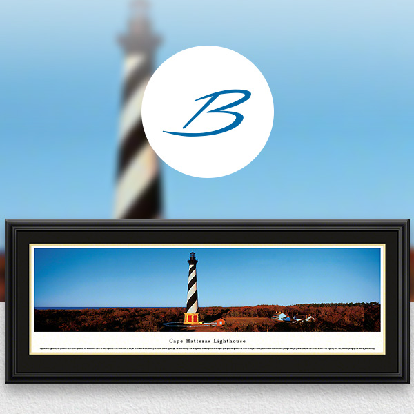 Cape Hatteras Light - Historic American Lighthouse Panoramic Wall Art