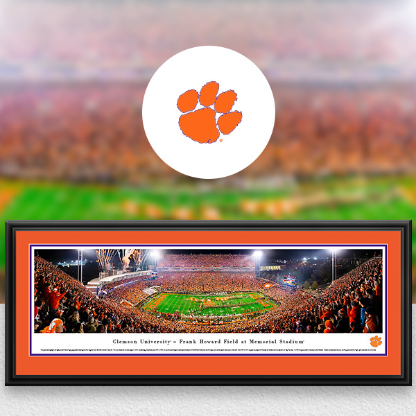 Clemson Tigers Panoramic Posters and Fan Cave Decor