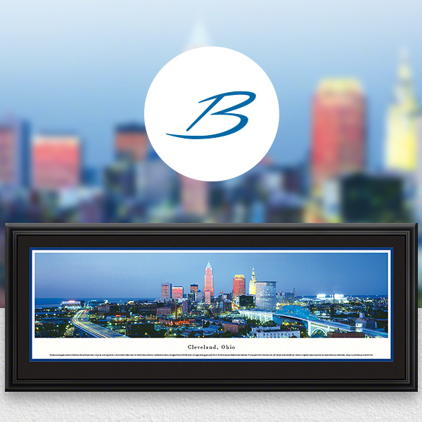 Cleveland, OH City Skyline Panoramic Wall Art