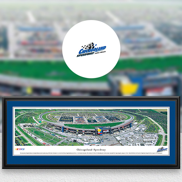 Chicagoland Speedway NASCAR Panoramic Posters and Fan Cave Decor