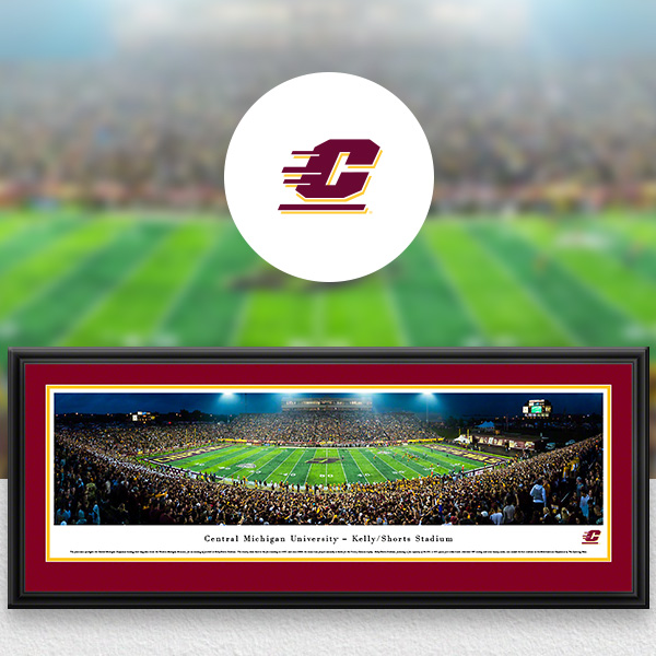 CMU Chippewas Panoramic Posters and Fan Cave Decor