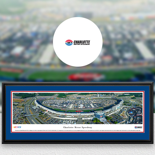 Charlotte Motor Speedway NASCAR Panoramic Posters and Fan Cave Decor