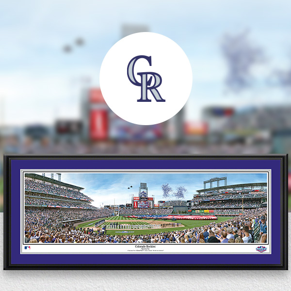 Colorado Rockies MLB Baseball Framed Panoramic Fan Cave Decor