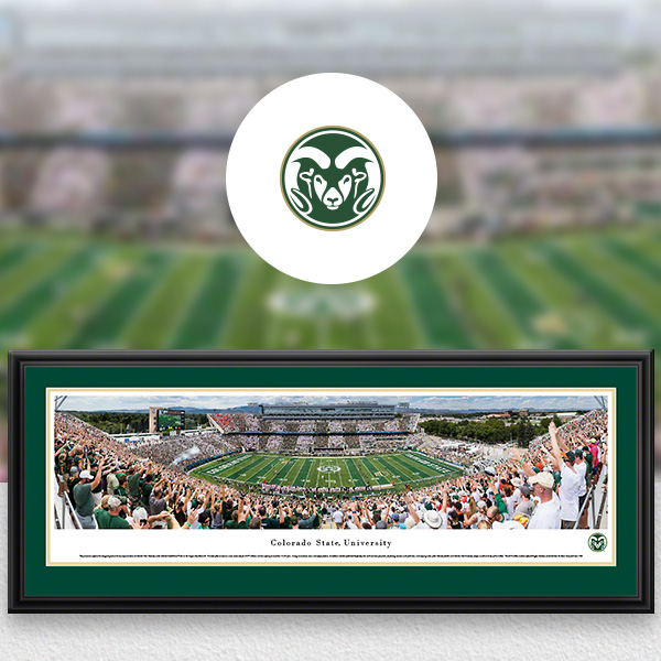 Colorado State Rams Panoramic Posters and Fan Cave Decor