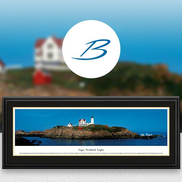 Cape Neddick Light - Historic American Lighthouse Panoramic Wall Art