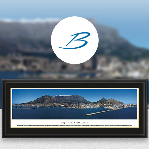 Cape Town, South Africa City Skyline Panoramic Wall Art