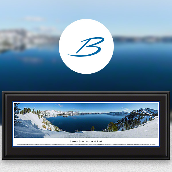 Crater Lake National Park Scenic Landscape Panoramic Wall Art