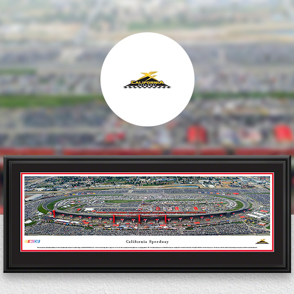 California Speedway NASCAR Panoramic Posters and Fan Cave Decor