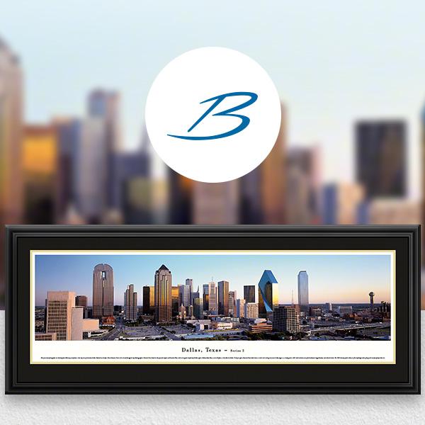 Dallas, TX City Skyline Panoramic Wall Art