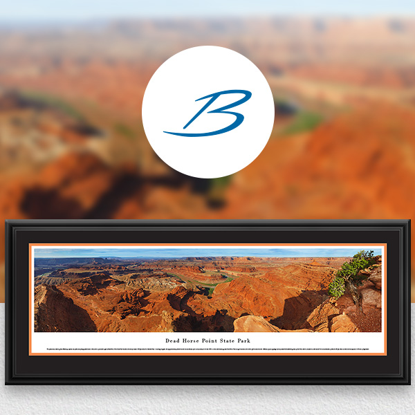 Dead Horse Point State Park Scenic Landscape Panoramic Wall Art