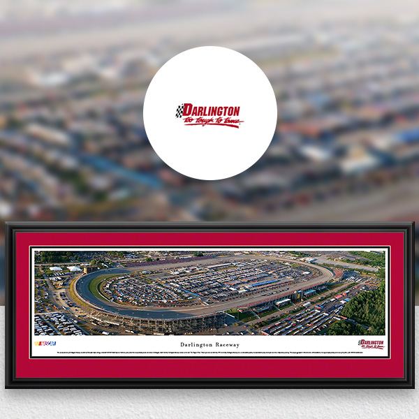 Darlington Raceway NASCAR Panoramic Posters and Fan Cave Decor