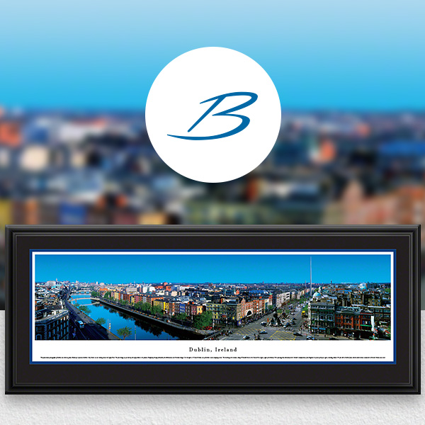 Dublin, Ireland City Skyline Panoramic Wall Art