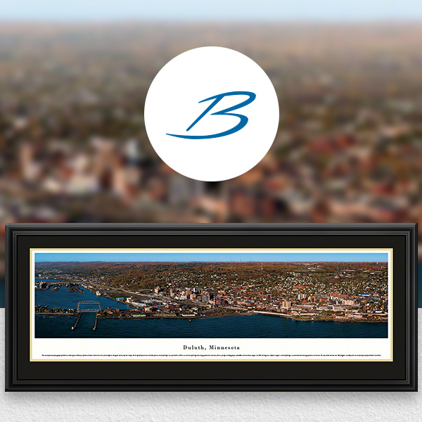 Duluth, MN City Skyline Panoramic Wall Art