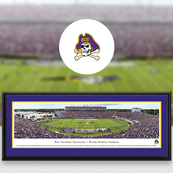 East Carolina Pirates Panoramic Posters and Fan Cave Decor