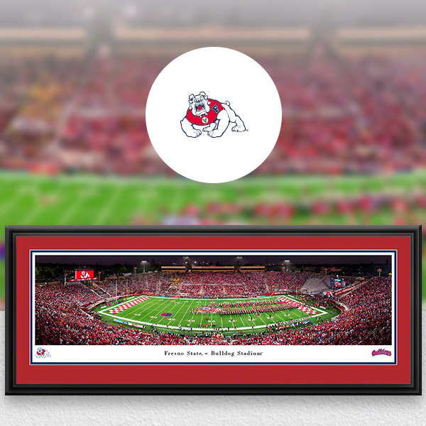 Fresno State Bulldogs Panoramic Posters and Fan Cave Decor