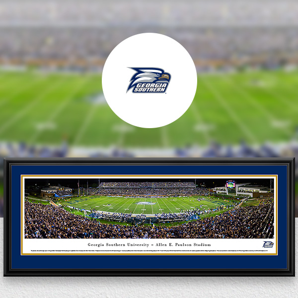 Georgia Southern Eagles Panoramic Posters and Fan Cave Decor